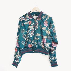 Charlotte Russe | Floral Printed Bomber Jacket